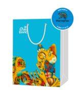 Пакет подарочный, бумажный, 23*32, 200 гр.,с люверсами, ручка шнур, с логотипом DAVICI, Москва