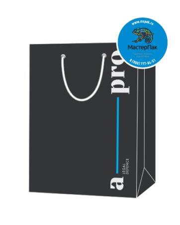 Пакет подарочный, бумажный, 30*40, 200 гр.,с люверсами, ручка шнур, с логотипом a-pro, Москва